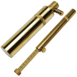 Brass Black Powder Measure with Flask
