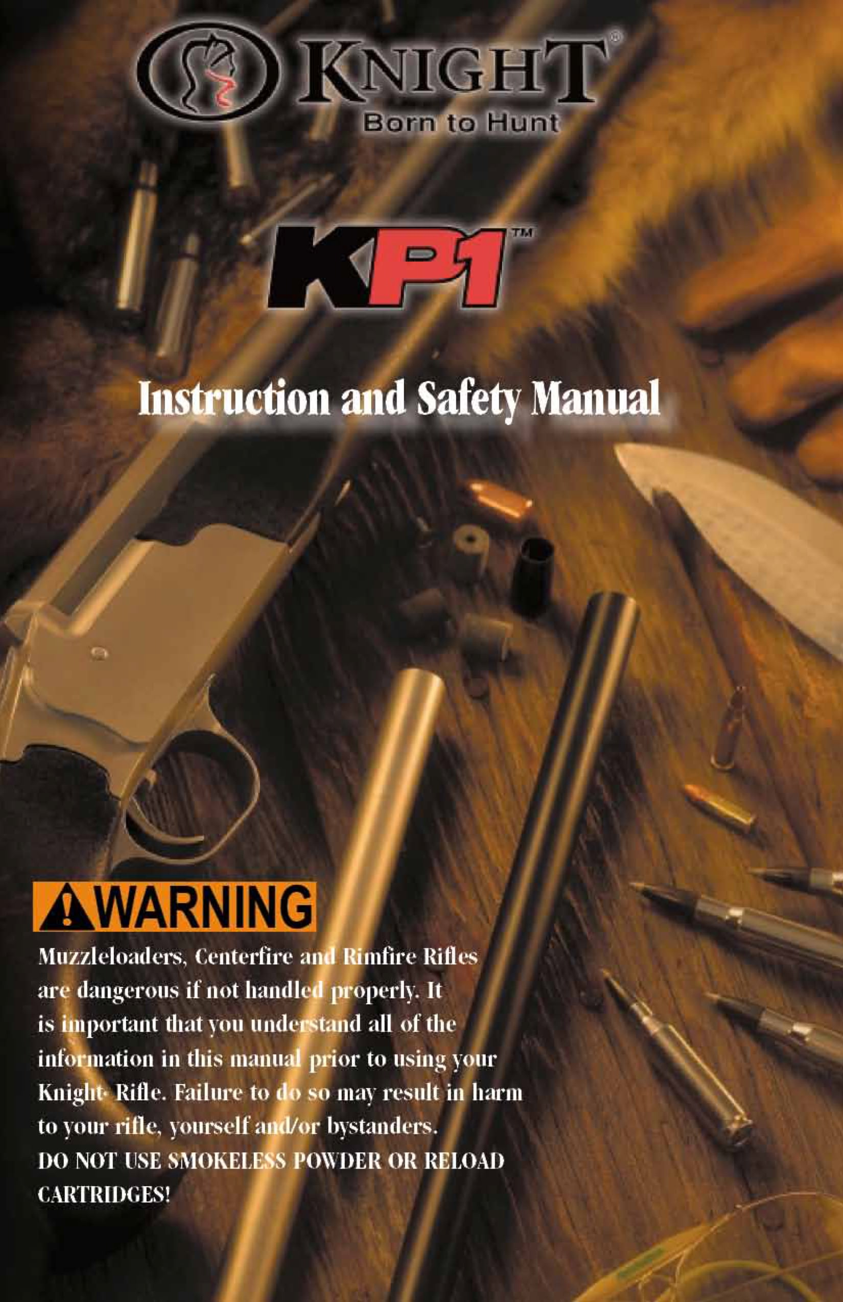 Knight Owners Manuals for Muzzleloader Rifles - Knight Rifles