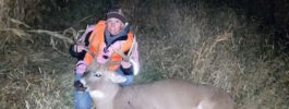 """Third year deer hunting using a 50 caliber pink little horn.""