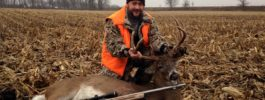 "150"" Ohio Buck , one shot with the Knight long range hunter @270 yards!"
