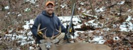I shot this 8 point whitetail 30 minutes into opening day of gun week in 2013 while hunting with my grandfather.